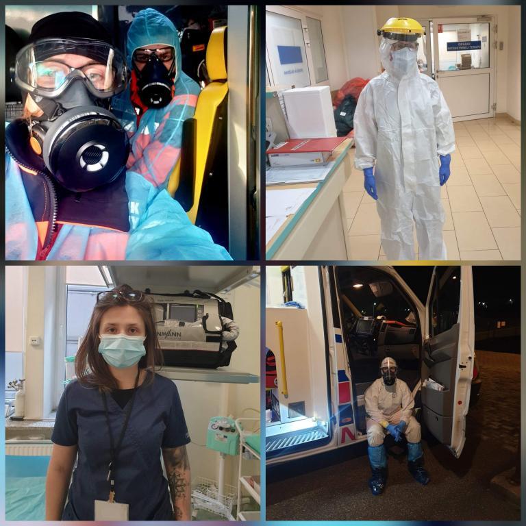 Młodzież z 11-19 Hufca Pracy w Słupsku docenia pracę Służby Zdrowia