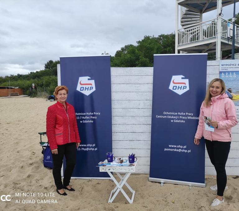 Akcja Promocyjno-Rekrutacyjna podczas Turnieju Sportowego na plaży w Brzeźnie