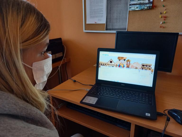 Promocja platformy edukacyjnej OCTOPUS+ w Młodzieżowym Centrum Kariery w Lęborku