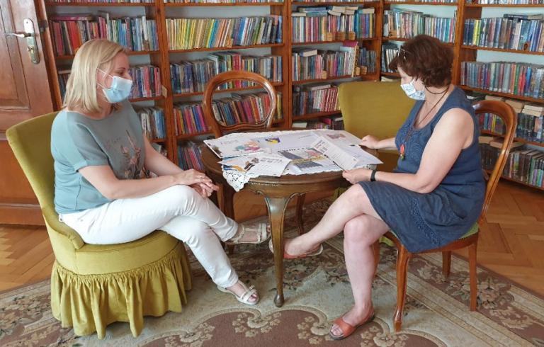 Spotkanie w bibliotece w ramach kampanii informacyjnej nt. pracy sezonowej w UE