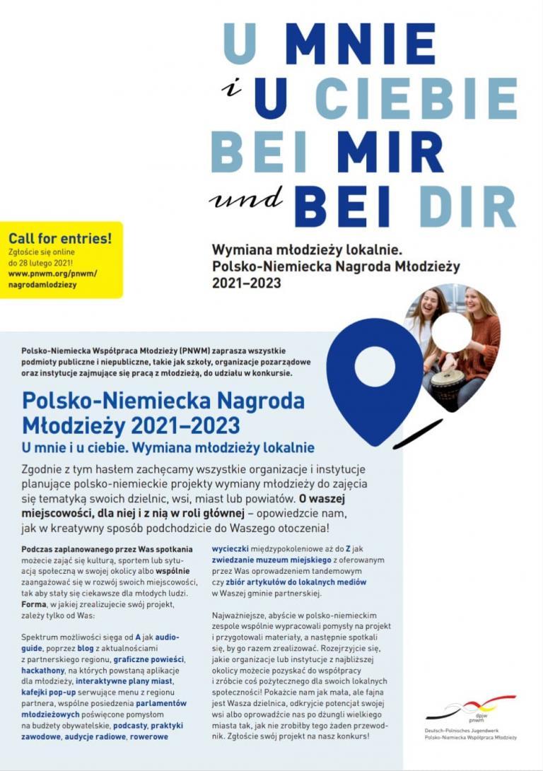 Konkurs o VII Polsko-Niemiecką Nagrodę Młodzieży 2021-2023