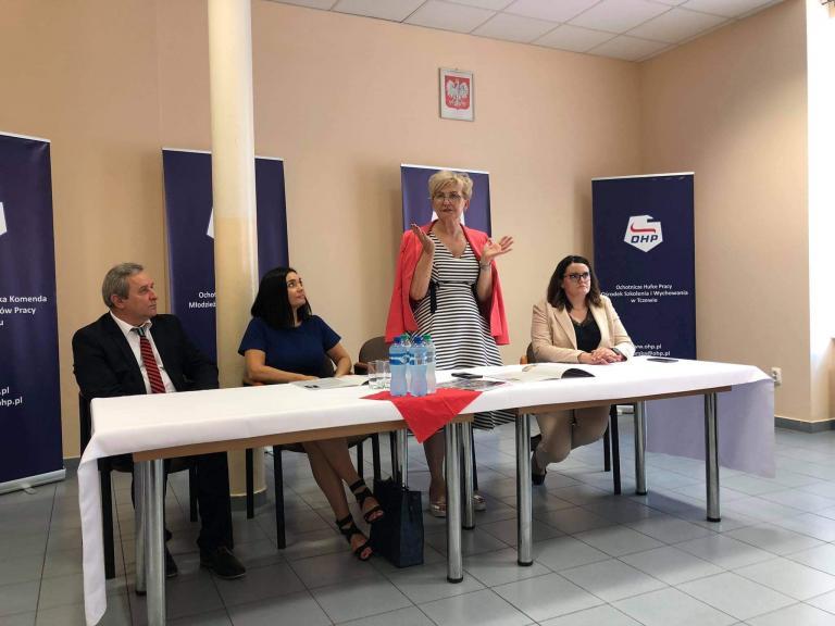 Spotkanie Wiceminister Iwony Michałek z kadrą Pomorskiej Wojewódzkiej Komendy OHP