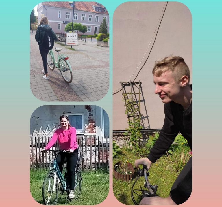 Do pracy jadę rowerem !