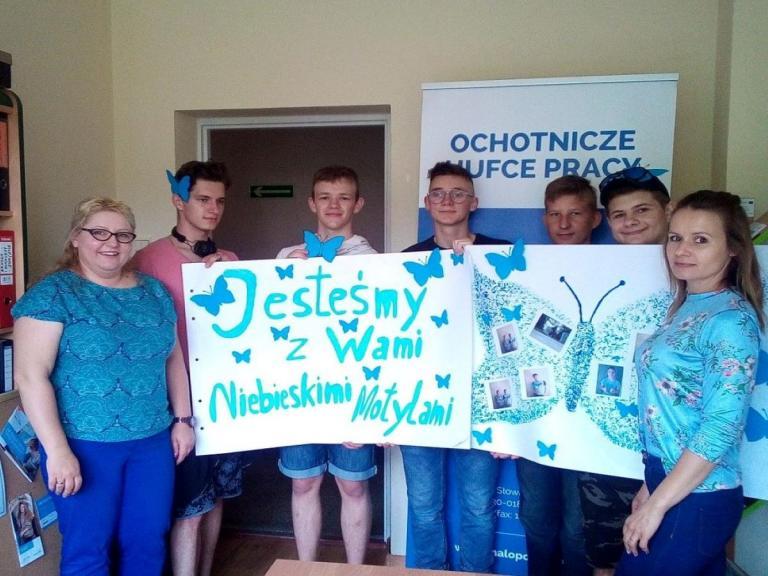 Niebieskie motyle w jednostkach Małopolskiej WK OHP