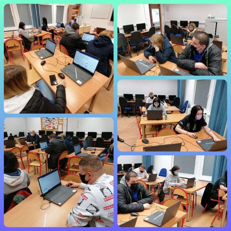 Egzaminy próbne w 11-23 Hufcu Pracy w Słupsku