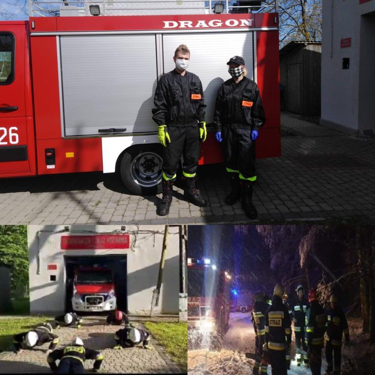 Druhowie Ochotniczej Straży Pożarnej z 11-19 Hufca Pracy w Słupsku