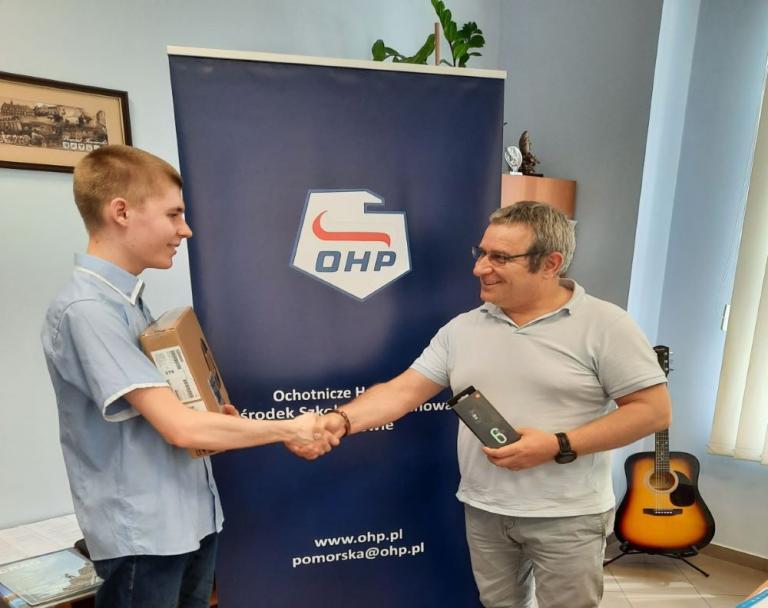 Pierwsze miejsce uczestnika OSiW Tczew w Ogólnopolskim Konkursie Wiedzy Informatycznej Młodzieży OHP